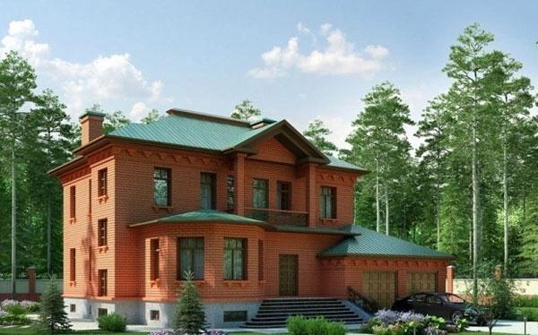 Фото красивых домов из кирпича